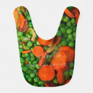 Erbsen-und Karotten-Baby-Schellfisch Lätzchen