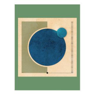 Erd-und Mond-Grafik Postkarte