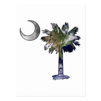 Erd-und MondPalmetto Postkarte