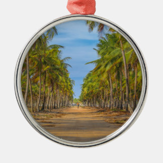 Erdaktuelle Straße Porto Galinhas Brasilien Silbernes Ornament