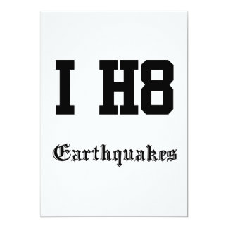 Erdbeben 12,7 X 17,8 Cm Einladungskarte