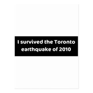 ERDBEBEN Toronto Postkarte