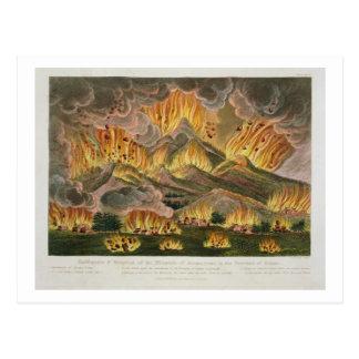 Erdbeben und Eruption des Berges von Asama-y Postkarte