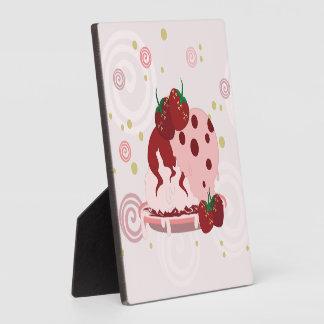 Erdbeer-und Eiscreme-Kunst Fotoplatte