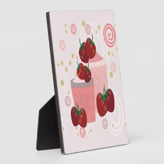 Erdbeer-und Kuchen-Kunst Fotoplatte
