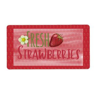 Erdbeeraufkleber
