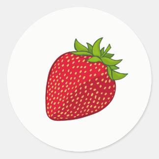 Erdbeeraufkleber Runder Aufkleber