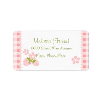 Erdbeerblüte Adressaufkleber