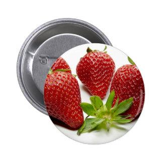 Erdbeere Anstecknadelbutton