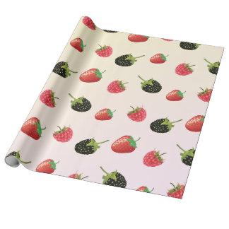 Erdbeere, BlackBerry, Himbeere: köstliche Frucht Geschenkpapier
