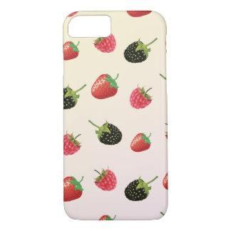 Erdbeere, BlackBerry, Himbeere: köstliche Frucht iPhone 8/7 Hülle