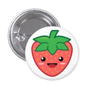 Erdbeere Anstecknadelbuttons