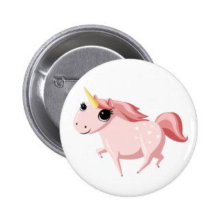 Erdbeere das rosa Einhorn Runder Button 5,1 Cm