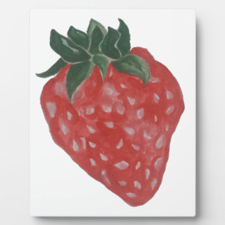 Erdbeere Fotoplatte