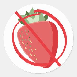 Erdbeere geben frei runder aufkleber