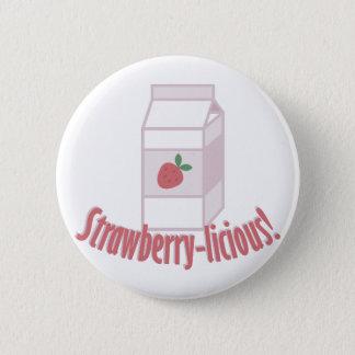 Erdbeere-licious Runder Button 5,1 Cm