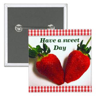 Erdbeere Lover_ Anstecknadel