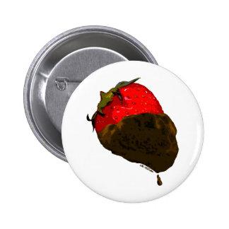 Erdbeere mit Schokolade überzogen Button