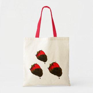 Erdbeere mit Schokolade überzogen Tasche