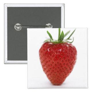 Erdbeere, Nahaufnahme Quadratischer Button 5,1 Cm