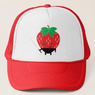 Erdbeere-Ninja Truckerkappe