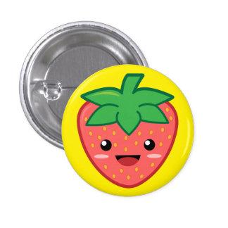 Erdbeere Runder Button 2,5 Cm