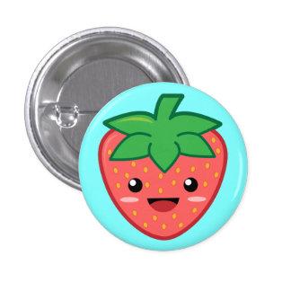 Erdbeere Runder Button 3,2 Cm