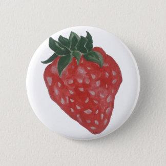 Erdbeere Runder Button 5,7 Cm