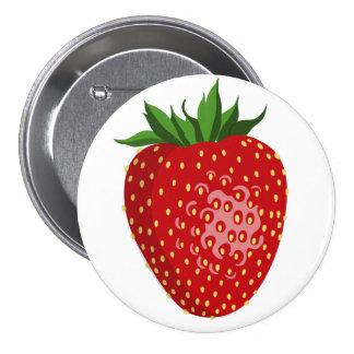 erdbeere runder button 7,6 cm