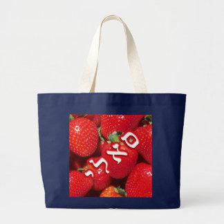 Erdbeere Sally, Sallie Jumbo Stoffbeutel
