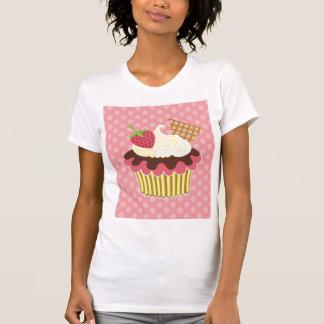 Erdbeere u. peitschte Sahnekuchen-T - Shirt