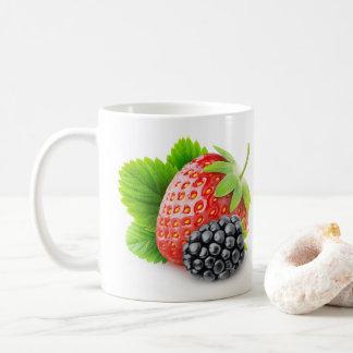 Erdbeere und BlackBerry Kaffeetasse