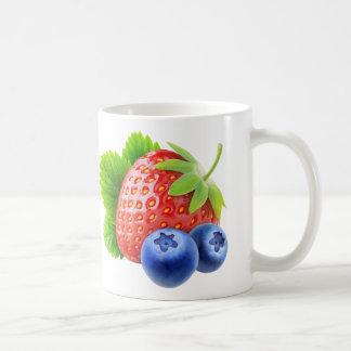Erdbeere und Blaubeeren Kaffeetasse