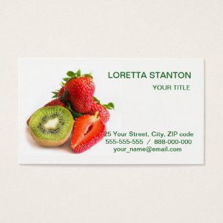 Erdbeere und Kiwi Visitenkarte