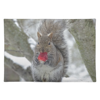 Erdbeereichhörnchen Tischset