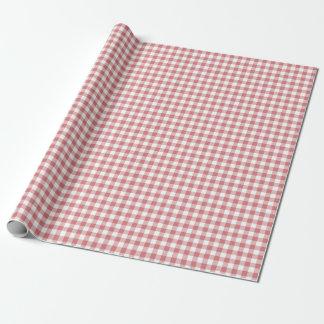 Erdbeereis-Gingham-Packpapier Geschenkpapier