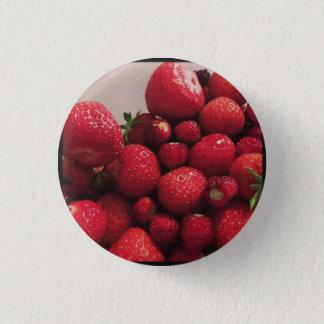 Erdbeeren 2 - Abzeichen Runder Button 3,2 Cm