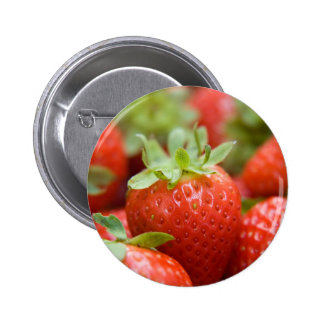 Erdbeeren 6 runder button 5,7 cm