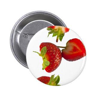 Erdbeeren Anstecknadelbutton