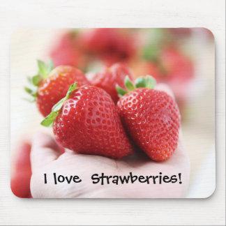 Erdbeeren der Liebe I! Mousepad