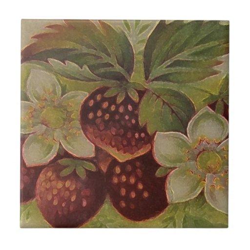 Erdbeeren Fliese