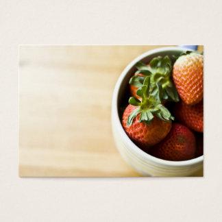 Erdbeeren in einem Schüssel businesscard Visitenkarte