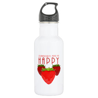 Erdbeeren machen mich glücklich trinkflasche