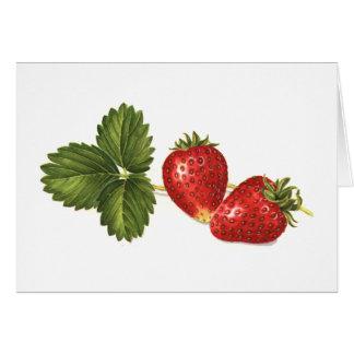 Erdbeeren Mitteilungskarte