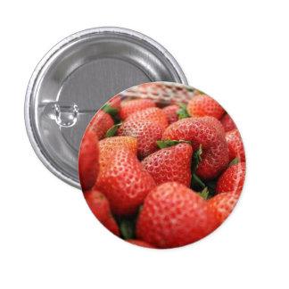 Erdbeeren Runder Button 3,2 Cm
