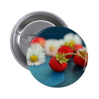 Erdbeeren Runder Button 5,1 Cm