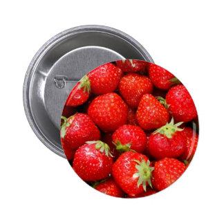 Erdbeeren Runder Button 5,7 Cm