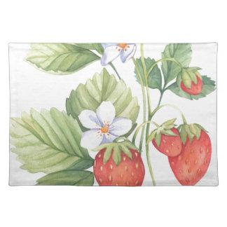 Erdbeeren Stofftischset