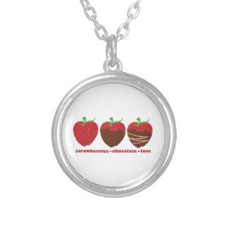 Erdbeeren u. Schokolade Personalisierter Schmuck