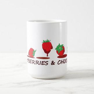 Erdbeeren und Schokolade Tee Tassen
